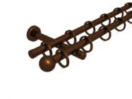 Magnetgarnitur mit Kugel  2-lfg. Bronziert