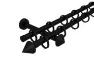Magnetgarnitur mit Kegel 2-lfg. Schwarz