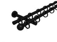 Magnetgarnitur mit Kugel 2-lfg. Schwarz