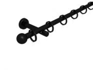 Magnetgarnitur mit Kugel 1-lfg. Schwarz