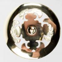 Raffhalter mit Scheibe Metall Messing