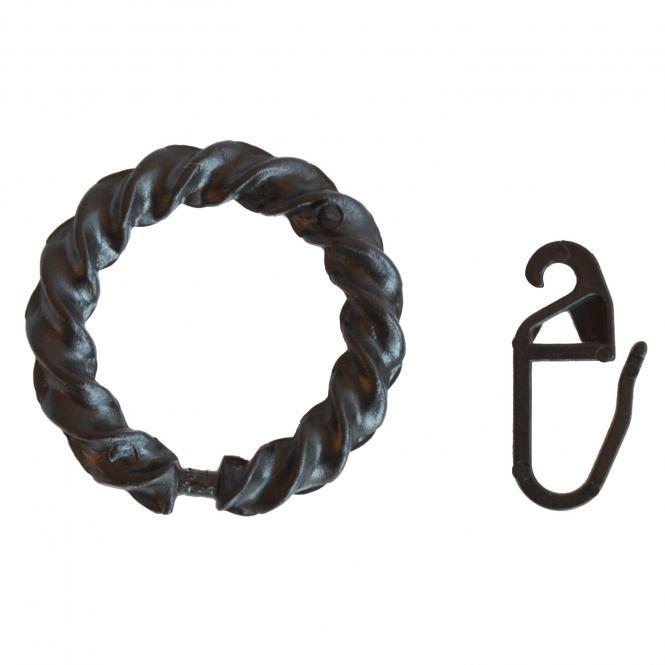Ring gedreht Ku-schwarz 72 pass. für Schmiedeeisen 1 Btl.